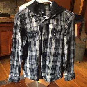 Boys hooded DC Flannel
